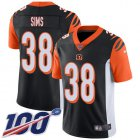 Cheap Nike Bengals #38 LeShaun Sims Black Team Color Youth Stitched NFL 100th Season Vapor Untouchable Limited Jersey