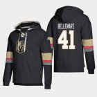 Cheap Vegas Golden Knights #41 Pierre-Edouard Bellemare Black adidas Lace-Up Pullover Hoodie