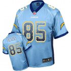 Cheap Nike Chargers #85 Antonio Gates Electric Blue Alternate Men's Stitched NFL Elite Drift Fashion Jersey
