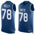Cheap Nike Colts #78 Ryan Kelly Royal Blue Team Color Men's Stitched NFL Limited Tank Top Jersey