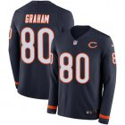 Cheap Nike Bears #80 Jimmy Graham Navy Blue Team Color Youth Stitched NFL Limited Therma Long Sleeve Jersey