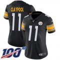 Cheap Nike Steelers #11 Chase Claypool Black Team Color Women's Stitched NFL 100th Season Vapor Untouchable Limited Jersey