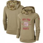 Cheap Women's New York Giants Nike Khaki 2019 Salute to Service Therma Pullover Hoodie