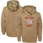 Cheap Youth New York Giants Nike Khaki 2019 Salute to Service Therma Pullover Hoodie