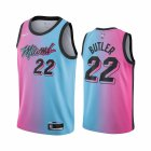 Cheap Nike Heat #22 Jimmy Butler Blue Pink NBA Swingman 2020-21 City Edition Jersey