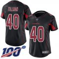 Cheap Nike Cardinals #40 Pat Tillman Black Women's Stitched NFL Limited Rush 100th Season Jersey