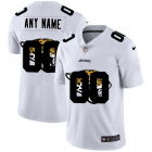 Cheap Jacksonville Jaguars Custom White Men's Nike Team Logo Dual Overlap Limited NFL Jersey