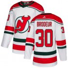 Cheap Adidas Devils #30 Martin Brodeur White Alternate Authentic Stitched Youth NHL Jersey