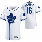 Cheap Toronto Maple Leafs #16 Mitchell Marner Men's 2020 NHL x MLB Crossover Edition Baseball Jersey White