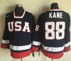 Cheap Team USA #88 Patrick Kane Navy Blue 2010 Olympic 1960 Throwback Stitched NHL Jersey