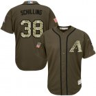 Cheap Diamondbacks #38 Curt Schilling Green Salute to Service Stitched Youth Baseball Jersey