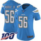Cheap Nike Chargers #56 Kenneth Murray Jr Electric Blue Alternate Women's Stitched NFL 100th Season Vapor Untouchable Limited Jersey