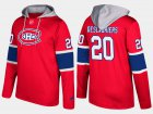 Cheap Canadiens #20 Nicolas Deslauriers Red Name And Number Hoodie