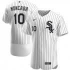 Cheap Chicago White Sox #10 Yoan Moncada Men's Nike White Home 2020 Authentic Player MLB Jersey