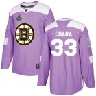 Cheap Adidas Bruins #33 Zdeno Chara Purple Authentic Fights Cancer Stanley Cup Final Bound Youth Stitched NHL Jersey