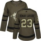 Cheap Adidas Coyotes #23 Oliver Ekman-Larsson Green Salute to Service Women's Stitched NHL Jersey