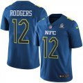 Cheap Nike Packers #12 Aaron Rodgers Navy Men's Stitched NFL Limited NFC 2017 Pro Bowl Jersey