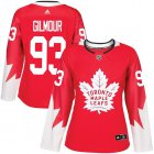 Cheap Adidas Maple Leafs #93 Doug Gilmour Red Team Canada Authentic Women's Stitched NHL Jersey