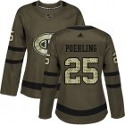 Cheap Adidas Canadiens #25 Ryan Poehling Green Salute to Service Women's Stitched NHL Jersey