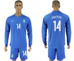 Cheap Greece #14 Dimitrios Away Long Sleeves Soccer Country Jersey