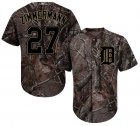 Cheap Tigers #27 Jordan Zimmermann Camo Realtree Collection Cool Base Stitched Youth MLB Jersey