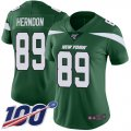 Cheap Nike Jets #89 Chris Herndon Green Team Color Women's Stitched NFL 100th Season Vapor Limited Jersey