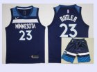 Cheap Men's Minnesota Timberwolves #23 Jimmy Butler New Navy Blue 2017-2018 Nike Swingman Stitched NBA Jersey With Shorts