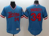 Cheap Twins #34 Kirby Puckett Light Blue Flexbase Authentic Collection Cooperstown Stitched MLB Jersey