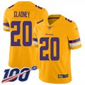 Cheap Nike Vikings #20 Jeff Gladney Gold Youth Stitched NFL Limited Inverted Legend 100th Season Jersey