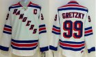 Cheap Rangers #99 Wayne Gretzky White CCM Throwback Stitched Youth NHL Jersey