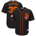 Cheap Giants #35 Brandon Crawford Black 2019 Spring Training Cool Base Stitched MLB Jersey