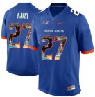 Cheap Boise State Broncos 27 Jay Ajayi Blue With Portrait Print College Football Jersey