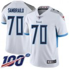 Cheap Nike Titans #70 Ty Sambrailo White Youth Stitched NFL 100th Season Vapor Untouchable Limited Jersey