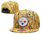 Cheap Steelers Team Logo Yellow Adjustable Hat TX