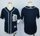Cheap Tigers Blank Navy Blue Cool Base Stitched Youth MLB Jersey