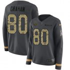 Cheap Nike Bears #80 Jimmy Graham Anthracite Salute to Service Women's Stitched NFL Limited Therma Long Sleeve Jersey