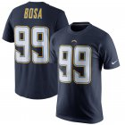 Cheap Los Angeles Chargers #99 Joey Bosa Nike Player Pride Name & Number T-Shirt Navy