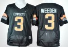 Cheap Oklahoma State Cowboys #3 Brandon Weeden Black Pro Combat Jersey