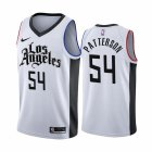 Cheap Nike Clippers #54 Patrick Patterson 2019-20 White Los Angeles City Edition NBA Jersey