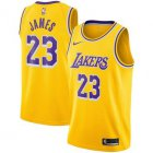 Cheap Kids Nike Los Angeles Lakers #23 LeBron James Purple Number Yellow Stitched NBA Jersey