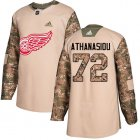 Cheap Adidas Red Wings #72 Andreas Athanasiou Camo Authentic 2017 Veterans Day Stitched Youth NHL Jersey
