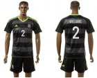 Cheap Wales #2 Williams Black Away Soccer Club Jersey