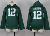 Cheap Nike Packers #12 Aaron Rodgers Green Youth Pullover NFL Hoodie