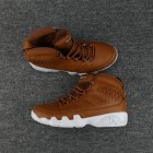 Cheap Mens Air Jordan 9(IX) Retro Shoes Brown/White