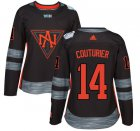 Cheap Team North America #14 Sean Couturier Black 2016 World Cup Women's Stitched NHL Jersey
