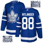 Cheap Adidas Maple Leafs #88 William Nylander Blue Home Authentic Fashion Gold Stitched NHL Jersey
