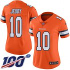 Cheap Nike Broncos #10 Jerry Jeudy Orange Women's Stitched NFL Limited Rush 100th Season Jersey