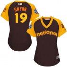 Cheap Padres #19 Tony Gwynn Brown 2016 All-Star National League Women's Stitched MLB Jersey