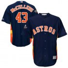 Cheap Astros #43 Lance McCullers Navy Blue Cool Base 2019 World Series Bound Stitched Youth MLB Jersey