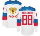 Cheap Team Russia #88 Andrei Vasilevskiy White 2016 World Cup Stitched NHL Jersey